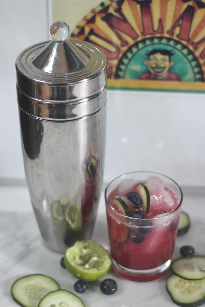 A Feteful Life: Blueberry-Cucumber Gimlet